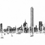 Boston Skyline Cards