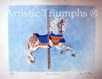 Carousel Horse Print – Charles Carmel circa 1900-1925