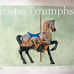 Carousel Horse Print – Daniel Muller circa 1899 – 1906